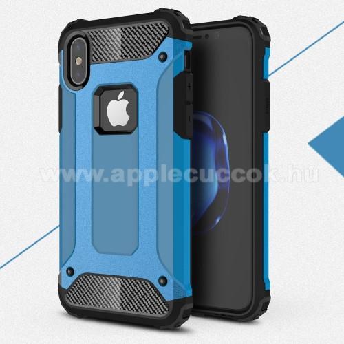 OTT! MAX DEFENDER műanyag védő tok / hátlap - VILÁGOSKÉK - szilikon belső, ERŐS VÉDELEM! - APPLE iPhone X / APPLE iPhone XS