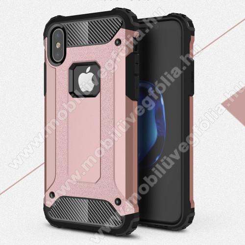 OTT! MAX DEFENDER műanyag védő tok / hátlap - ROSE GOLD - szilikon belső, ERŐS VÉDELEM! - APPLE iPhone X / APPLE iPhone XS
