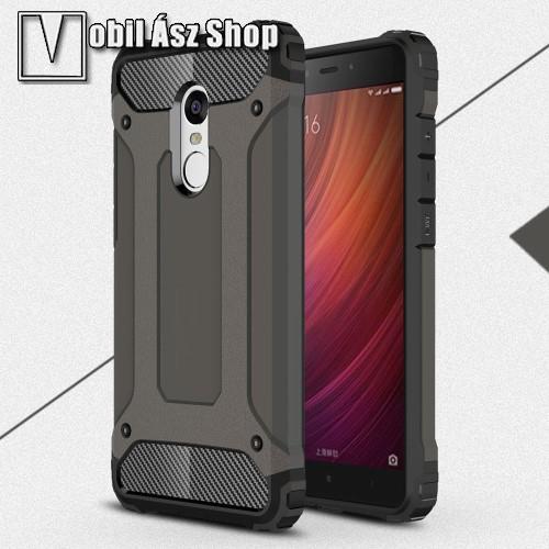 OTT! MAX DEFENDER műanyag védő tok / hátlap - BRONZ - szilikon belső, ERŐS VÉDELEM! - Xiaomi Redmi Note 4