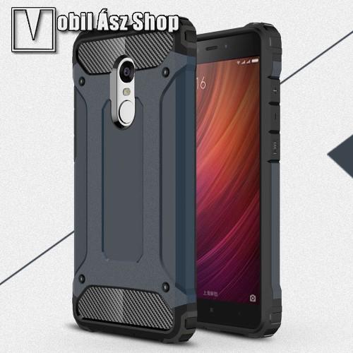 OTT! MAX DEFENDER műanyag védő tok / hátlap - SÖTÉTKÉK - szilikon belső, ERŐS VÉDELEM! - Xiaomi Redmi Note 4