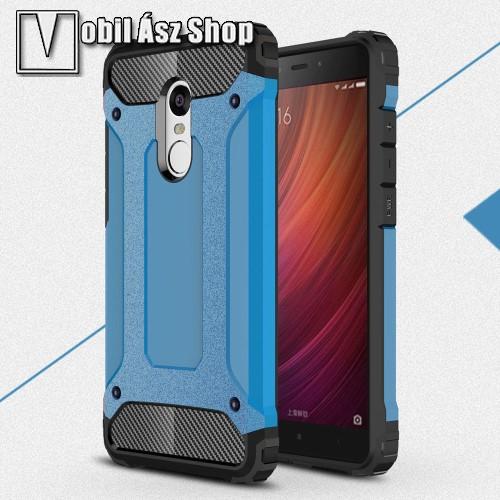 OTT! MAX DEFENDER műanyag védő tok / hátlap - VILÁGOSKÉK - szilikon belső, ERŐS VÉDELEM! - Xiaomi Redmi Note 4