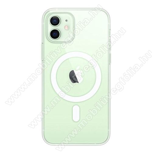 OTT! MILITARY műanyag védő tok / hátlap - ÁTLÁTSZÓ - MagSafe-rögzítésű, vezeték nélküli töltés támogatás, szilikon szegély, erősített sarkok - ERŐS VÉDELEM! - APPLE iPhone 11 Pro