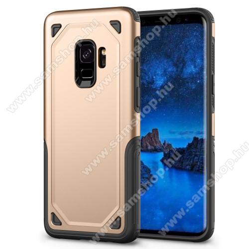 OTT! ROUGH műanyag védő tok / hátlap - ARANY - szilikon belső - ERŐS VÉDELEM! - SAMSUNG SM-G960 Galaxy S9