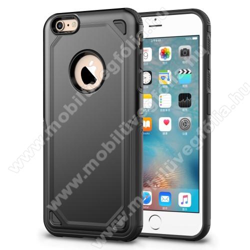 OTT! ROUGH műanyag védő tok / hátlap - FEKETE - szilikon belső - ERŐS VÉDELEM! - APPLE iPhone 6 / APPLE iPhone 6S