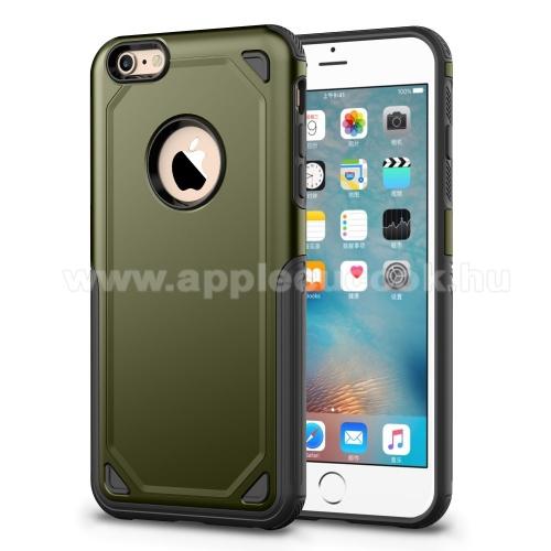 OTT! ROUGH műanyag védő tok / hátlap - SÖTÉTZÖLD - szilikon belső - ERŐS VÉDELEM! - APPLE iPhone 6 / APPLE iPhone 6S