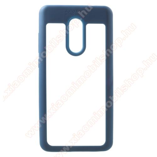 OTT! TRANSPARENT műanyag védő tok / átlátszó hátlap - KÉK - szilikon szegély, erősített sarkok, ütődés álló - Xiaomi Redmi Note 4X
