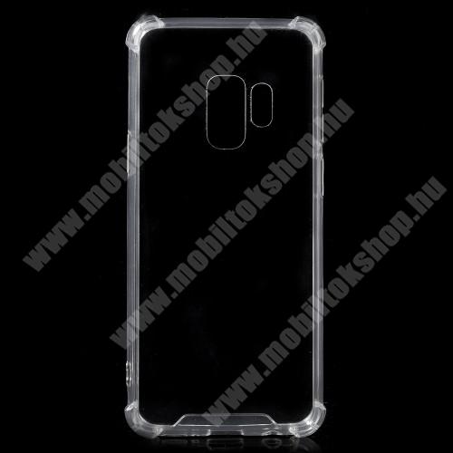 OTT! TRANSPARENT műanyag védő tok / átlátszó hátlap - ÁTLÁTSZÓ - szilikon szegély, erősített sarkok, ütődés álló - SAMSUNG SM-G960 Galaxy S9