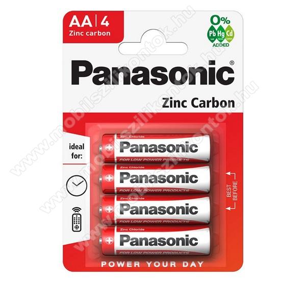 PANASONIC Elem (AA, R6R, 1.5V, cink-mangán) 4db / csomag