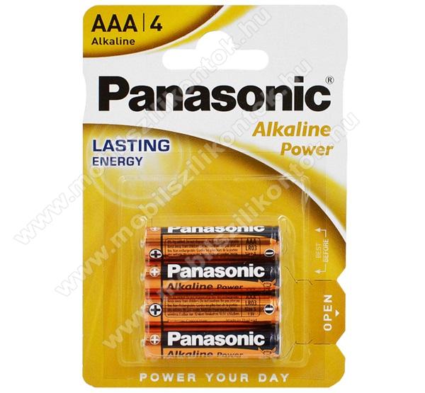PANASONIC Elem (Alkaline Power AAA, mikro, 1.5V, alkáli/tartós elem) 4db / csomag