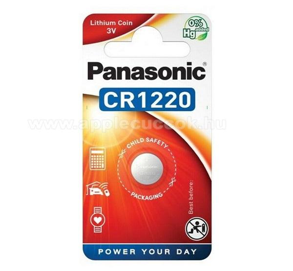 PANASONIC Elem (CR1220, 3V, lítium gombelem) 1db / csomag