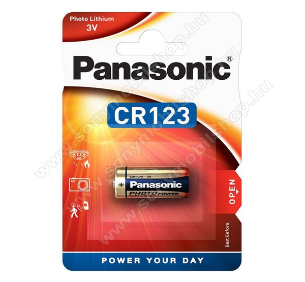 PANASONIC Elem (CR123A, 3V, lítium fotóelem) 1db / csomag