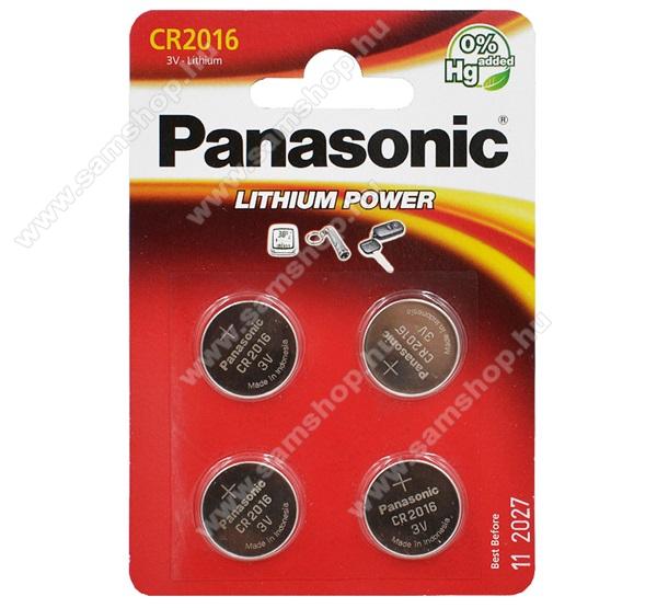 PANASONIC Elem (CR2016EL/4B, 3V, lítium gombelem) 4db / csomag