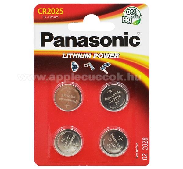 PANASONIC Elem (CR2025EL/4B, 3V, lítium gombelem) 4db / csomag