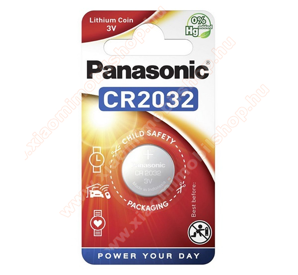 PANASONIC Elem (CR2032, 3V, lítium gombelem) 1db /csomag