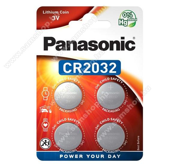 PANASONIC Elem (CR2032EL, 3V, 4BP gombelem) 4db /csomag