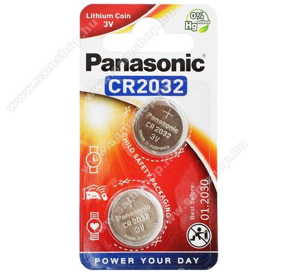 PANASONIC Elem (CR2032L/2BP,lítium gombelem) 2db / csomag