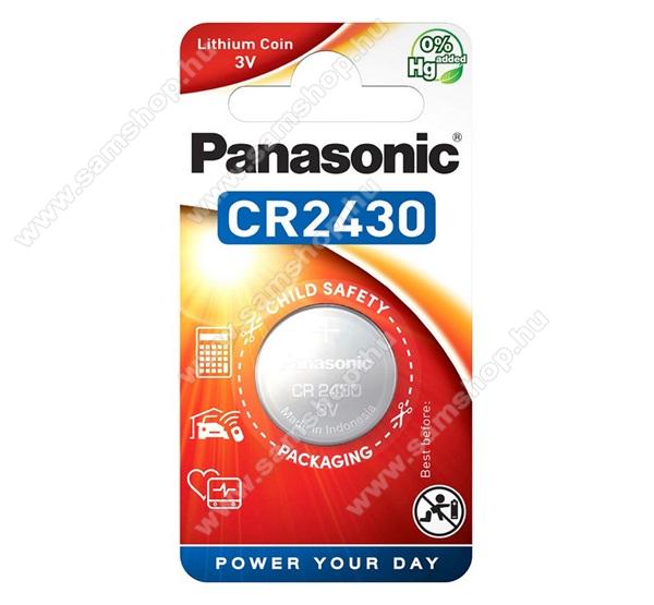 PANASONIC Elem (CR2430L, 3V, lítium gombelem) 1db / csomag
