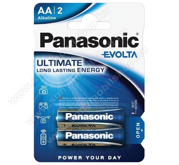 PANASONIC Elem (EVOLTA, AA, ceruza, 1.5V, szupertartós, alkáli elem) 2db / csomag
