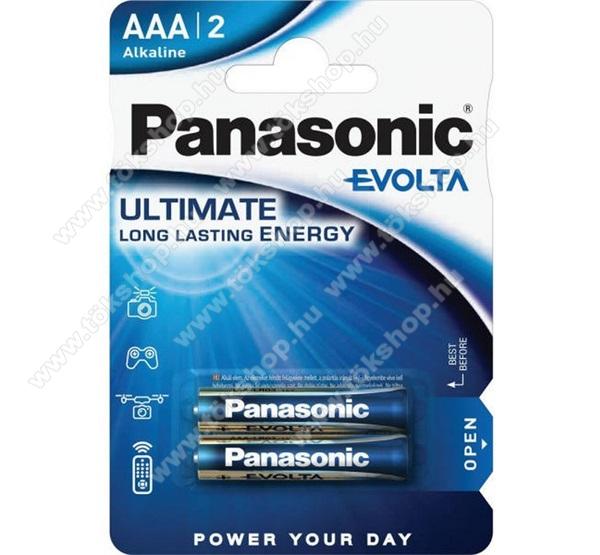 PANASONIC Elem (EVOLTA AAA, mikro, 1.5V,szupertartós alkáli elem) 2db / csomag