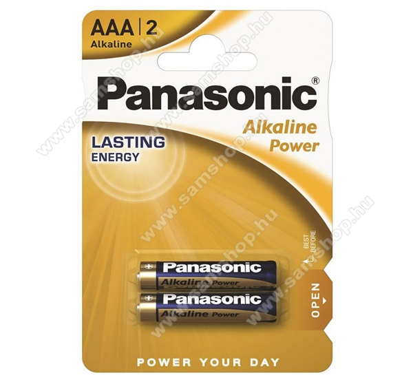 PANASONIC Elem (LR03APB, Pro Power AAA, mikro, 1.5V, szupertartós alkáli elem) 2db /csomag