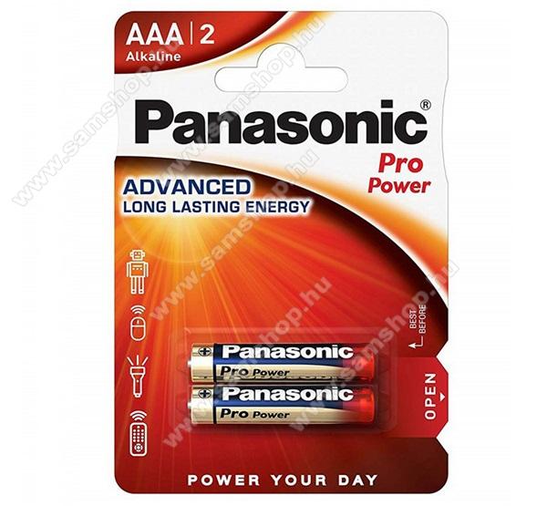PANASONIC Elem (LR03PPG, Pro Power AAA, mikro, 1.5V, szupertartós alkáli elem) 2db /csomag