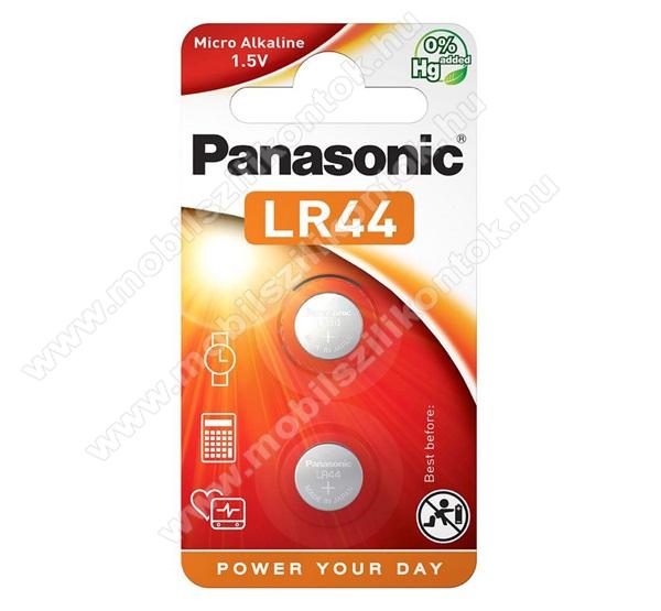 PANASONIC Elem (LR44EL/2B, 1.5V, alkáli gombelem) 2db / csomag