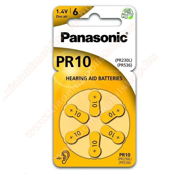PANASONIC Elem (PR10L/6LB, 1.4V, cink-levegő) 6 db / csomag