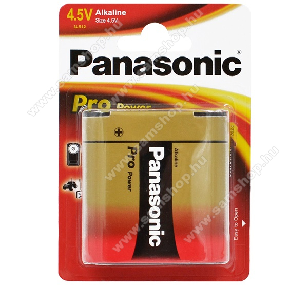 PANASONIC Elem (Pro Power 4.5V lapos alkáli/tartós elem) 1db / csomag
