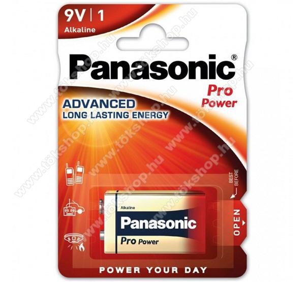 PANASONIC Elem (Pro Power, 9V, blokk szupertartós alkáli) 1db / csomag