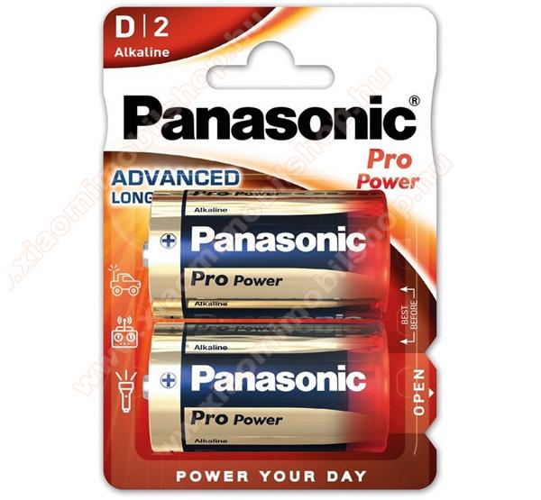 PANASONIC Elem (Pro Power D/góliát, 1.5V, alkáli/tartós elem) 2db /csomag