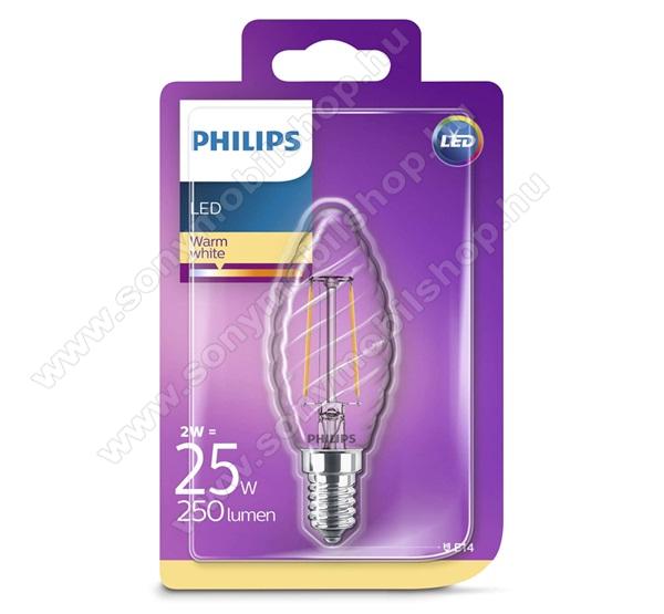 PHILIPS Consumer izzó (LED körte, E14 foglalat, ST35 kialakítás, 2700K, 2W, 250 Lumen) MELEG FEHÉR - 929001238517 - GYÁRI