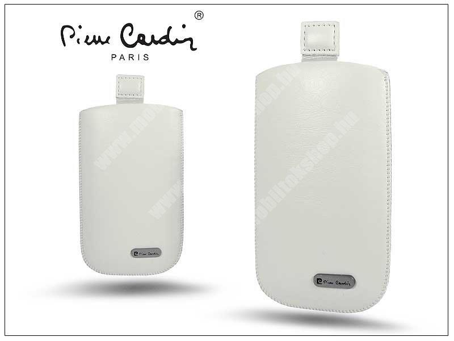 Pierre Cardin Slim univerzális tok - Sams. i9100 Galaxy S II/Samsung i8700 Omnia 7/HTC Desire HD - White