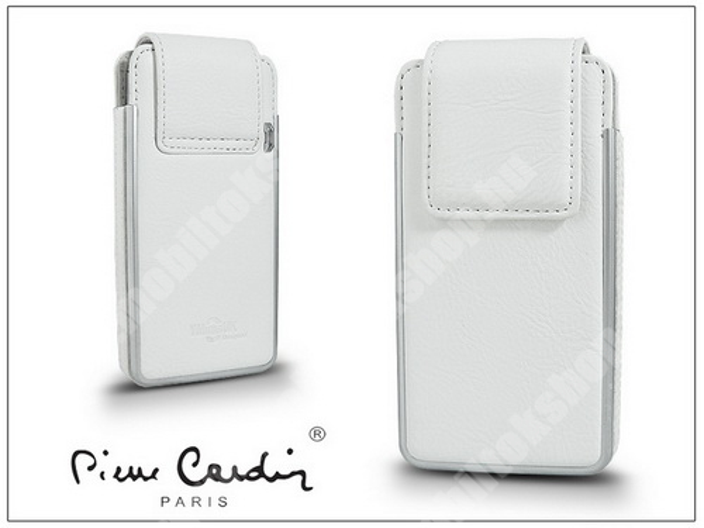 PIERRE CARDIN valódi bőrtok - APPLE iPhone 4/4S - Type-5 - fehér - PC-121 - GYÁRI