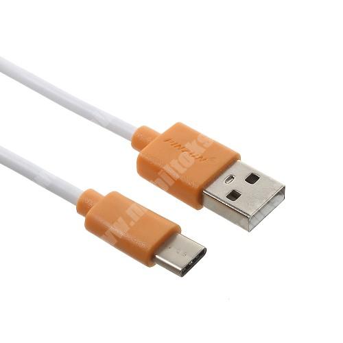 Xiaomi Mi Note 2 PINZUN 2A adatatátviteli kábel / USB töltő - USB / USB Type-C - NARANCS