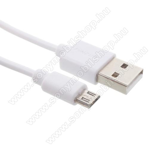 SONY Xperia C4 DUAL (E5333/E5343/E5363)PINZUN adatátvitel adatkábel - USB / micro USB, 1m - FEHÉR
