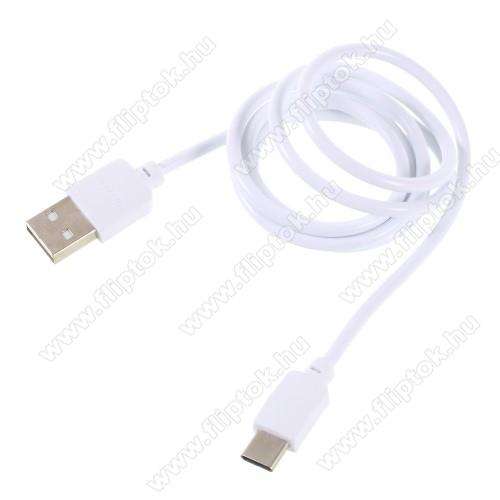 LG G Pad 5 10.1PINZUN CB-002 2A adatátviteli kábel / USB töltő - USB 3.1 Type C / Type C csatlakozás, 1m - FEHÉR