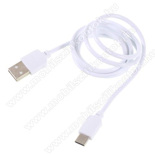 PINZUN CB-002 2A adatátviteli kábel / USB töltő - USB 3.1 Type C / Type C csatlakozás, 1m - FEHÉR