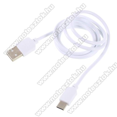 SAMSUNG SM-G770F Galaxy S10 LitePINZUN CB-002 2A adatátviteli kábel / USB töltő - USB 3.1 Type C / Type C csatlakozás, 1m - FEHÉR