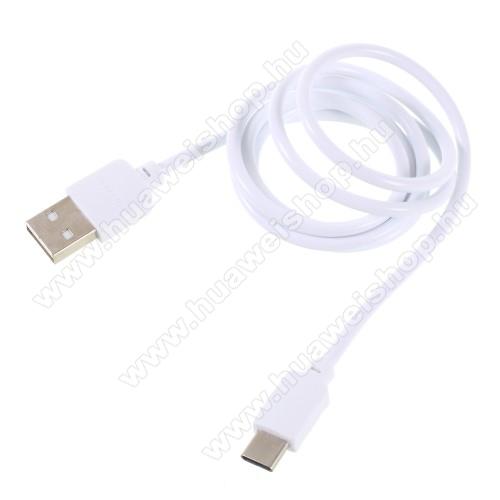 HUAWEI Honor Note 8PINZUN CB-002 2A adatátviteli kábel / USB töltő - USB 3.1 Type C / Type C csatlakozás, 1m - FEHÉR