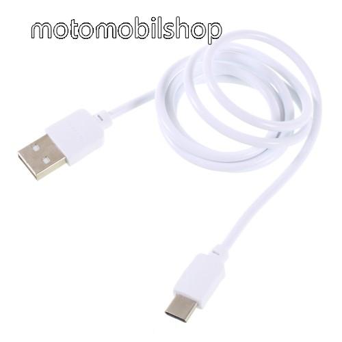 Motorola Edge PINZUN CB-002 2A adatátviteli kábel / USB töltő - USB 3.1 Type C / Type C csatlakozás, 1m - FEHÉR