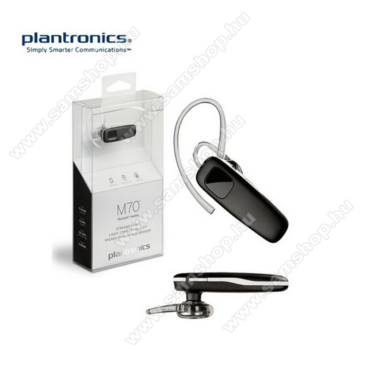 SAMSUNG Galaxy Xcover 4s (SM-G398FN) PLANTRONICS M70 BLUETOOTH HEADSET / JAMES BOND - multipoint - FEKETE / FEHÉR - GYÁRI