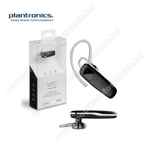 MEIZU m3 note PLANTRONICS M70 BLUETOOTH HEADSET / JAMES BOND - multipoint - FEKETE / FEHÉR - GYÁRI