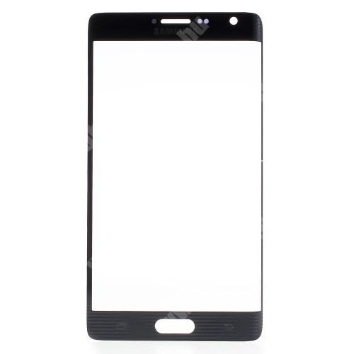 Plexi ablak - ÉRINTŐ PANEL NÉLKÜL! - FEKETE - SAMSUNG SM-N915FY Galaxy Note Edge