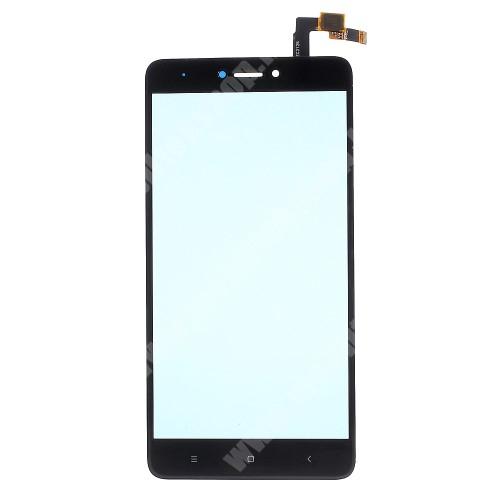Plexi ablak érintő panellel - FEKETE - Xiaomi Redmi Note 4X (Global version) - Utángyártott