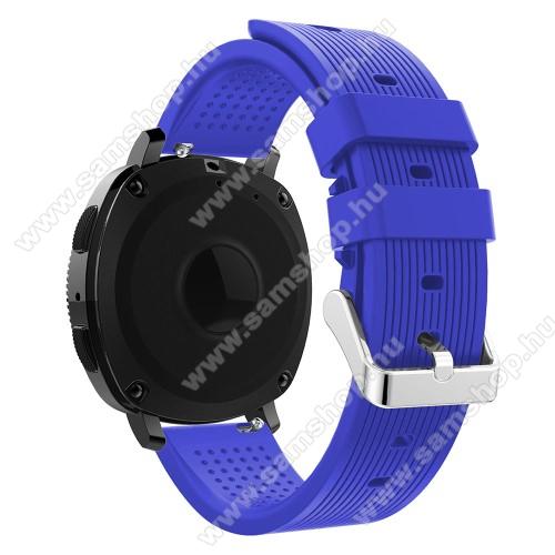 SAMSUNG SM-R600 Galaxy Gear SportPót szíj - szilikon - SAMSUNG Galaxy Gear Sport, 128mm + 85mm hosszú, 20mm széles - LILA