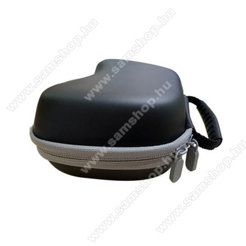 PS5 kontrollerhez tároló / hordozható védőtok - belső hálós zseb, cipzár, ERŐS VÉDELEM - FEKETE