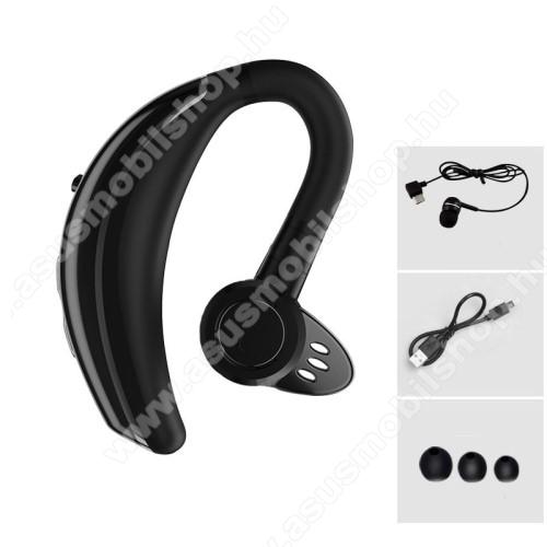 ASUS Memo Pad 7 ME572CQ8 Bluetooth headset - FEKETE - V4.1, IPX6 vízállóság, felvevő gomb, mikrofon, egyszerre 2 különböző telefonnal használható!