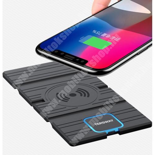 LG G4c (H525N) QI Wireless hálózati töltő állomás vezeték nélküli töltéshez - fogadóegység nélkül!, összecsukható, Type-C port, gyorstöltés támogatás, 15W(max!) - FEKETE