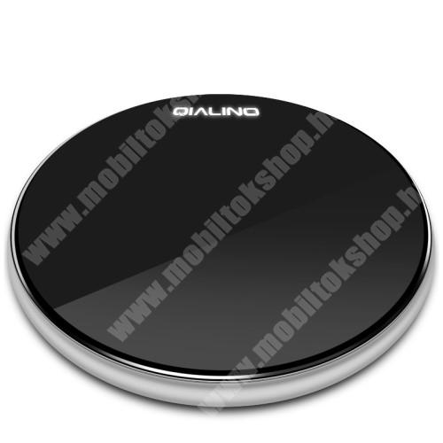 ALCATEL A30 QIALINO 15W QI Wireless hálózati töltő állomás vezeték nélküli töltéshez - 15W, ULTRAVÉKONY 7mm, FOD funkció, LED jelzőfény, gyorstöltés támogatás, fogadóegység NÉLKÜL! - FEKETE - GYÁRI