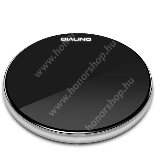 HUAWEI Honor 3C Play QIALINO 15W QI Wireless hálózati töltő állomás vezeték nélküli töltéshez - 15W, ULTRAVÉKONY 7mm, FOD funkció, LED jelzőfény, gyorstöltés támogatás, fogadóegység NÉLKÜL! - FEKETE - GYÁRI